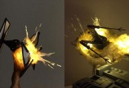 'Exploding' Model Star Wars Ships Using Cotton Balls and LEDs