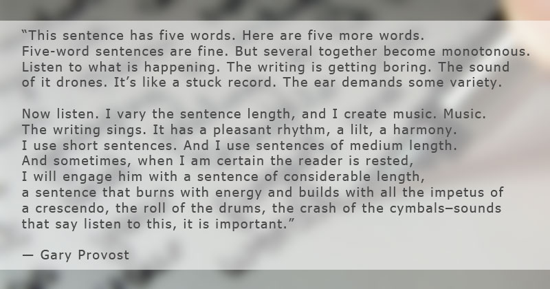 The Importance of Sentence Length in Writing