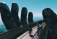 Giant Hands Raise Bridge in Vietnam to the Sky