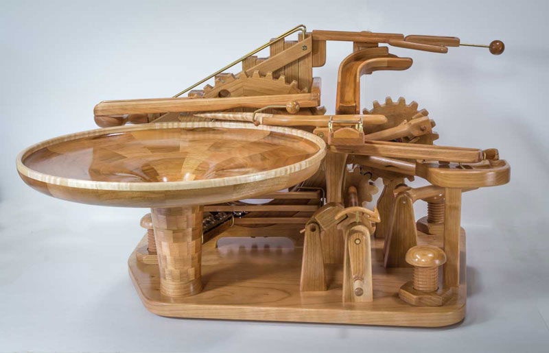 gravity well marble machines by larry marley 1 The Fantastic Gravity Well Marble Machines of Larry Marley