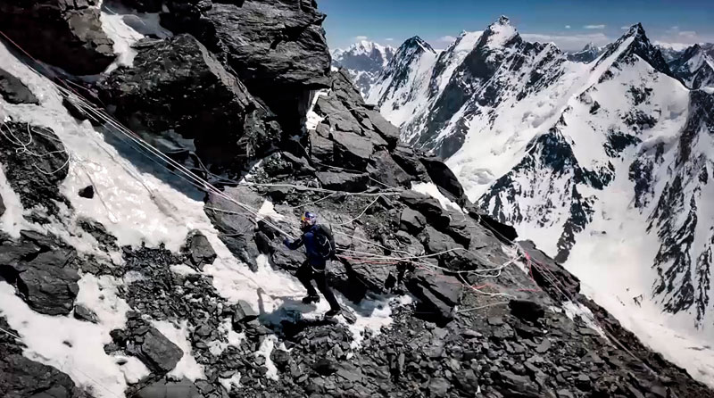 k2 first descent on skis andrzej bargiel red bull july 22 2018 13 First Descent: Polish Mountaineer Andrzej Bargiel Skies Down From the Top of K2