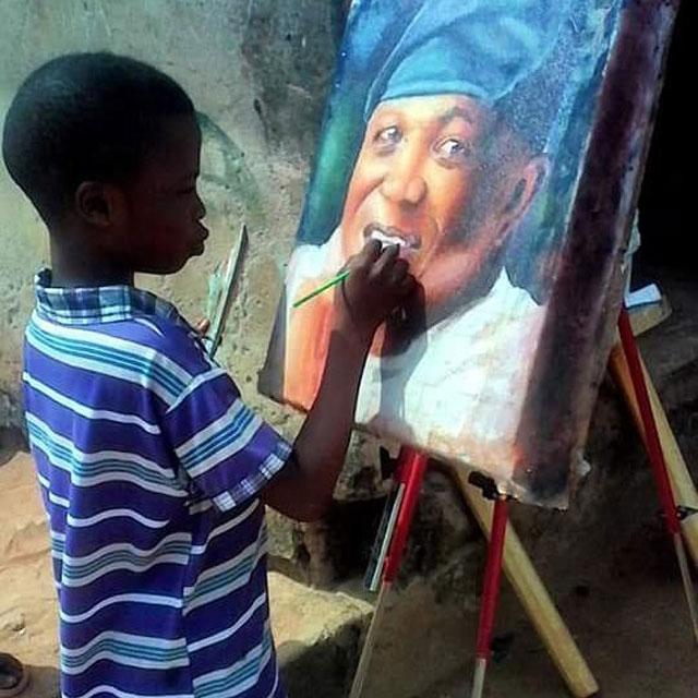 11 year old hyperrealist artist kareem waris olamilekan waspa nigeria 1 11 Year Old Hyperrealist from Nigeria Wows With Stunning Artworks