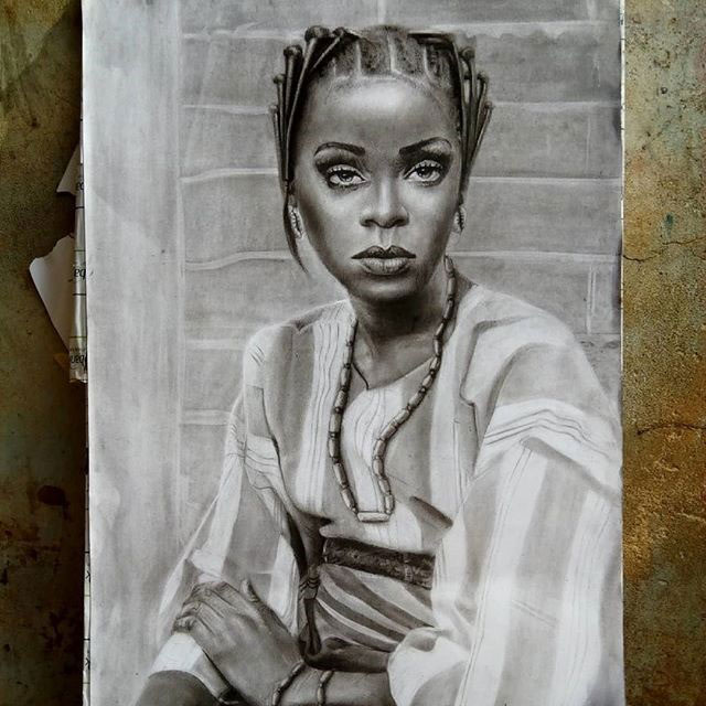 11 year old hyperrealist artist kareem waris olamilekan waspa nigeria 6 11 Year Old Hyperrealist from Nigeria Wows With Stunning Artworks