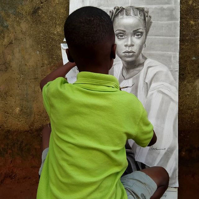 11 year old hyperrealist artist kareem waris olamilekan waspa nigeria 7 11 Year Old Hyperrealist from Nigeria Wows With Stunning Artworks