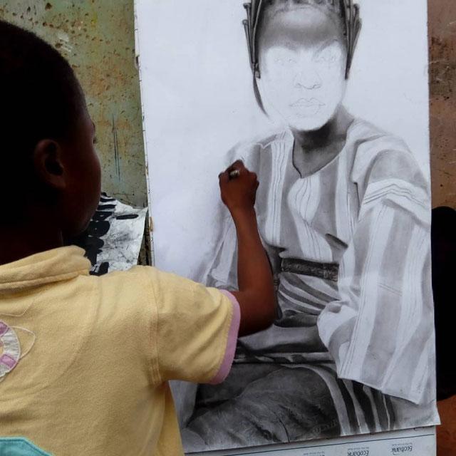 11 year old hyperrealist artist kareem waris olamilekan waspa nigeria 8 11 Year Old Hyperrealist from Nigeria Wows With Stunning Artworks