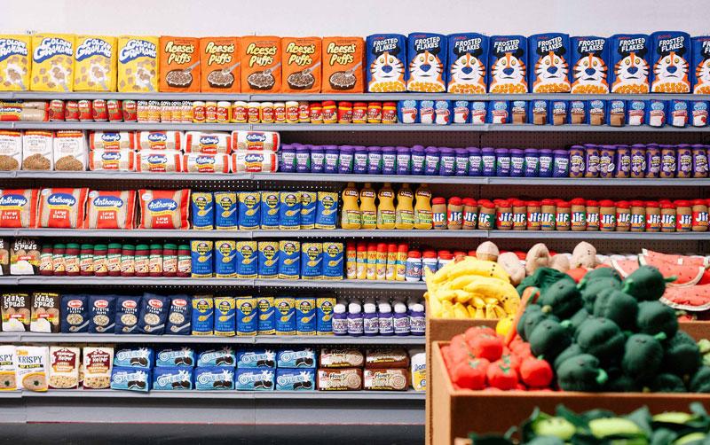 felt supermarket la standard hotel lucy sparrow 1 Sparrow Mart, an All Felt Supermarket With 31,000 Handmade Items