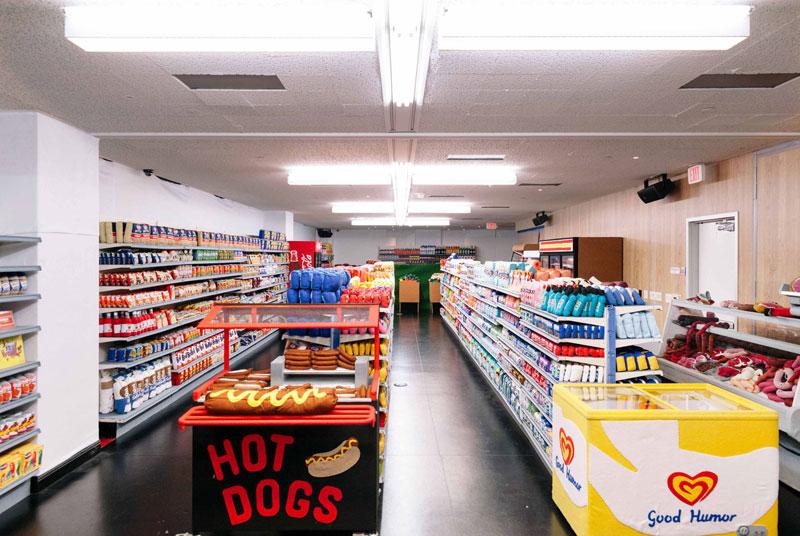 felt supermarket la standard hotel lucy sparrow 4 Sparrow Mart, an All Felt Supermarket With 31,000 Handmade Items