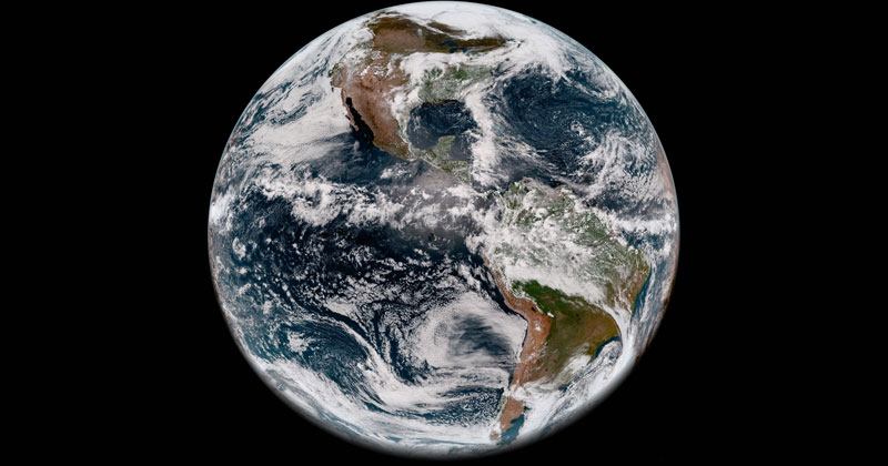 Full Disk Image of Earth's Western Hemisphere Taken May 20, 2018