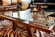Abandoned and Broken Piano Finds News Life as Beautiful Coffee Table