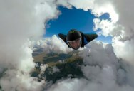 This Wingsuit POV Through a 'Cloud Tunnel' is Blowing My Mind
