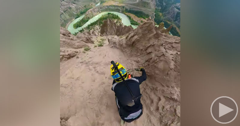 Crazy POV of Pro Rider Kilian Bron Descending Farwell Canyon