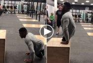 Zion Clark, a Collegiate Wrestler Born Without Legs, Doing Box Jumps