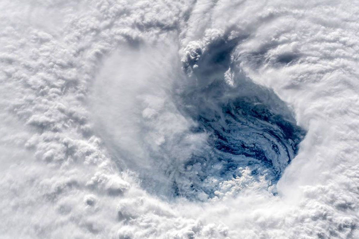 hurricane florence from space 2 Hurricane Florence Looks Terrifying from Space (11 Photos)