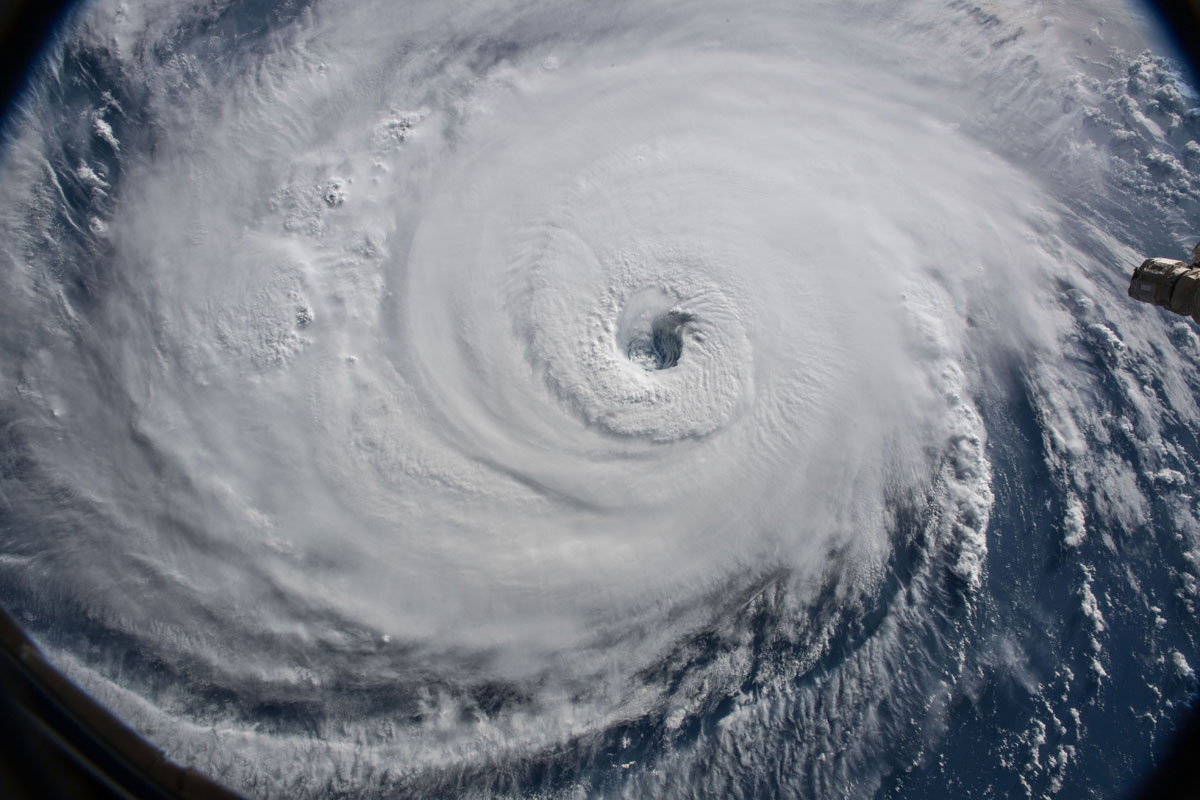 hurricane florence from space 6 Hurricane Florence Looks Terrifying from Space (11 Photos)