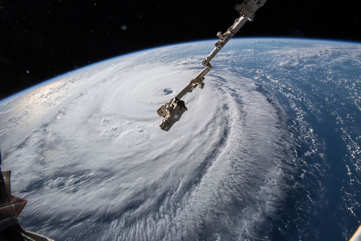 hurricane florence from space 7 Hurricane Florence Looks Terrifying from Space (11 Photos)