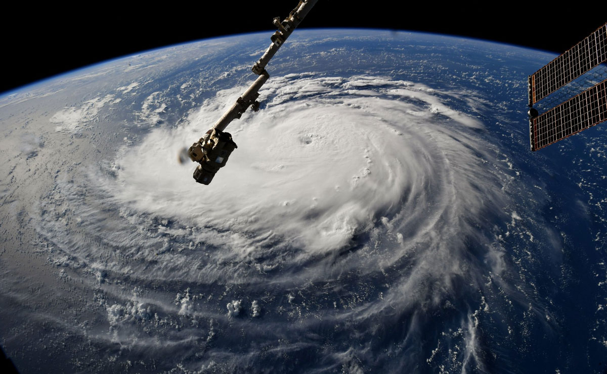 hurricane florence from space 8 Hurricane Florence Looks Terrifying from Space (11 Photos)