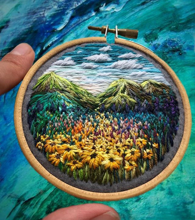 needle painting embroidery by vera shimunia 1 The Amazing Needle Painting of Vera Shimunia (15 Photos)