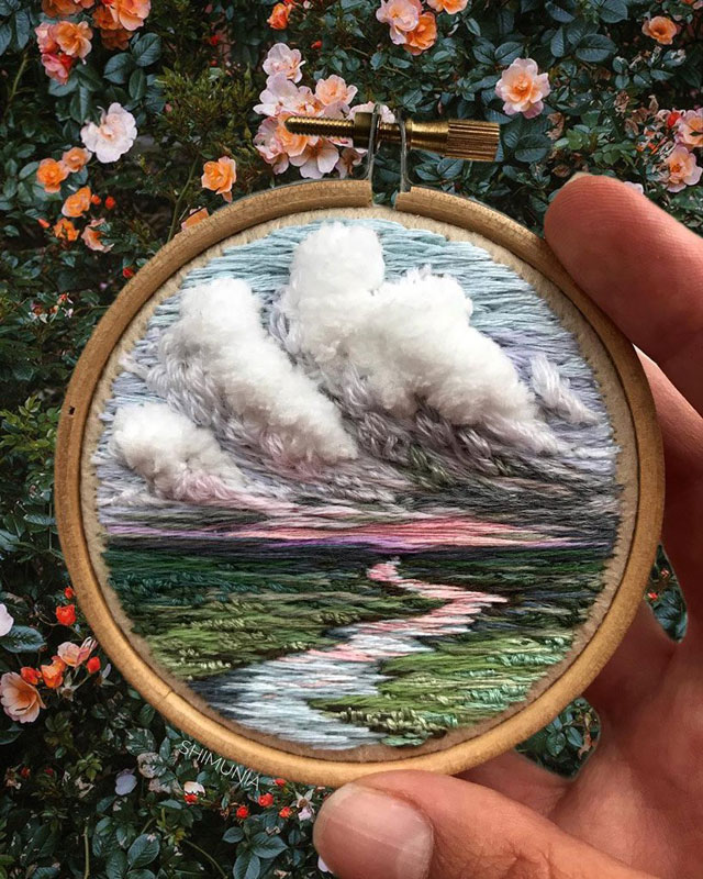 needle painting embroidery by vera shimunia 12 The Amazing Needle Painting of Vera Shimunia (15 Photos)