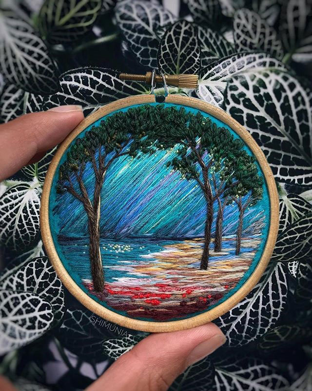 needle painting embroidery by vera shimunia 3 The Amazing Needle Painting of Vera Shimunia (15 Photos)