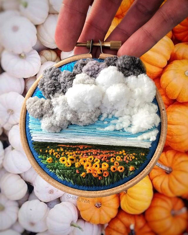 needle painting embroidery by vera shimunia 5 The Amazing Needle Painting of Vera Shimunia (15 Photos)