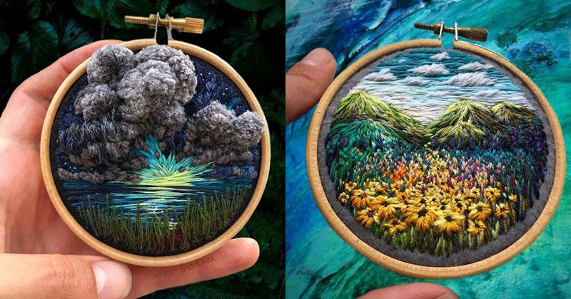 The Amazing 'Needle Painting' of Vera Shimunia (15 Photos)