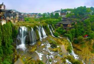 This 'Waterfall City' in China Looks Straight Out of a Fantasy Film