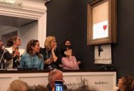 Banksy Artwork Self-Destructs after Selling for $1 Million at Auction