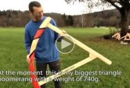 Just a Guy Showing (and Throwing) His Amazing Collection of Giant Boomerangs