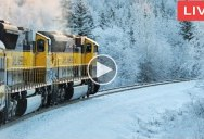 If You Need a Break There's a 24/7 Live Stream of a Train Going Across Norway