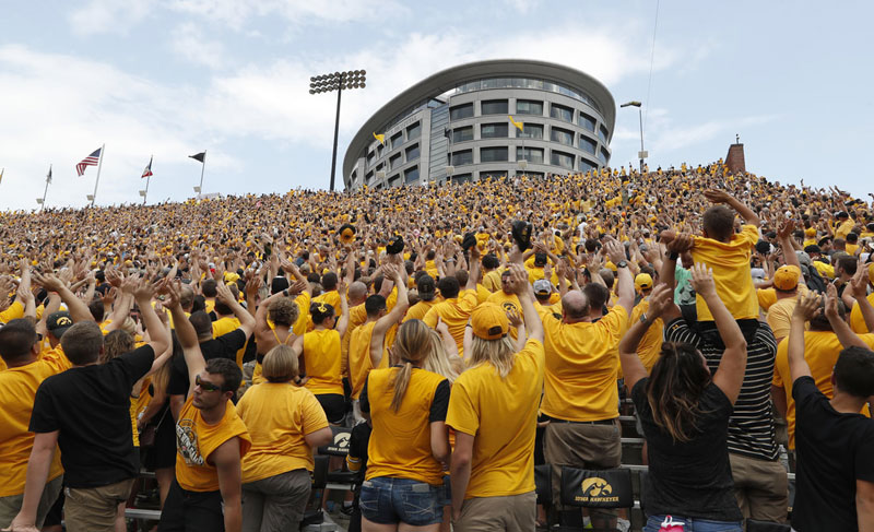 Wave to the Brave: The Amazing Tradition at Every Iowa Home Game