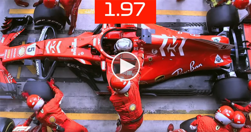 What a 1.97 Second F1 Pit Stop Looks Like From Above
