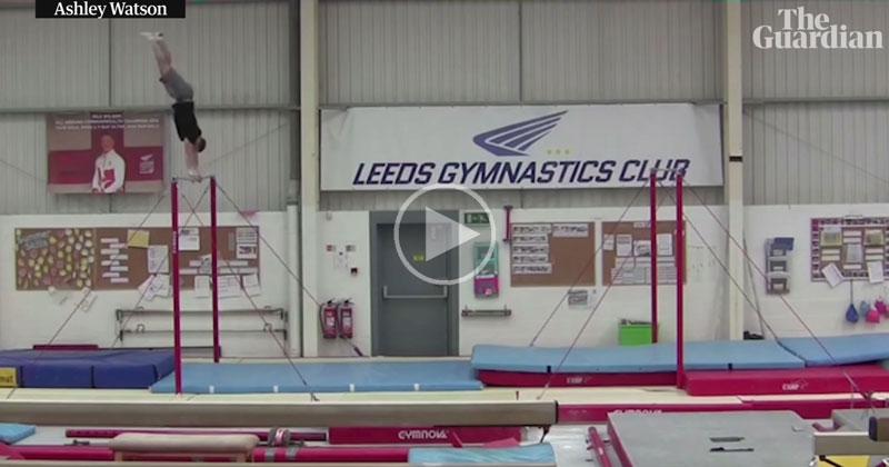 Gymnast Sets Horizontal Bar Backflip World Record with 20 ft Leap