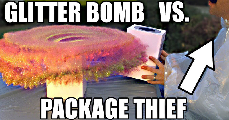 This Over-Engineered, Glitter Bomb Bait Package is an Absolute Masterpiece