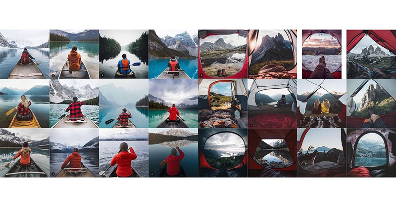 This Account Creates Collages of the Travel Photos You See Everywhere