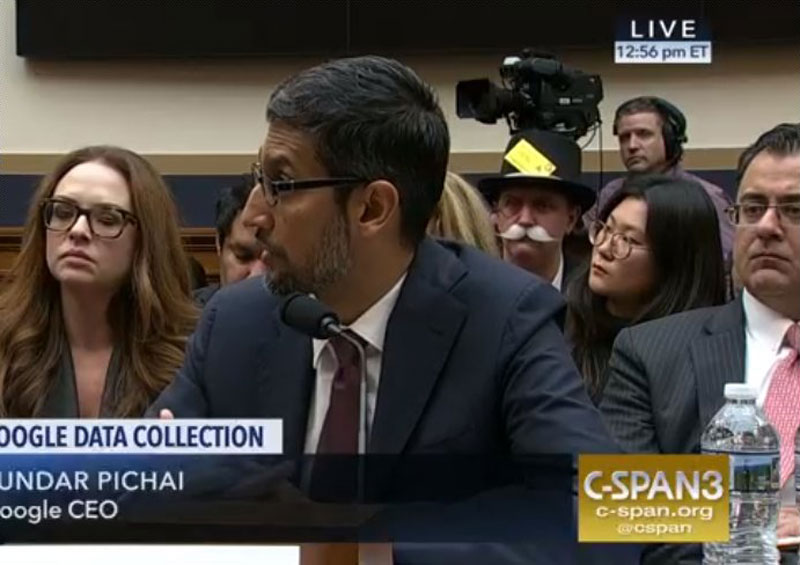 monopoly man at google ceo sundar pichai congressional hearing 3 The Monopoly Man Showed Up At Googles Congressional Hearing Today