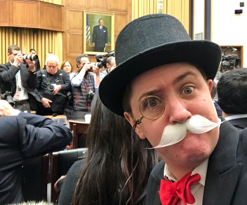 monopoly man at google ceo sundar pichai congressional hearing 5 The Monopoly Man Showed Up At Googles Congressional Hearing Today