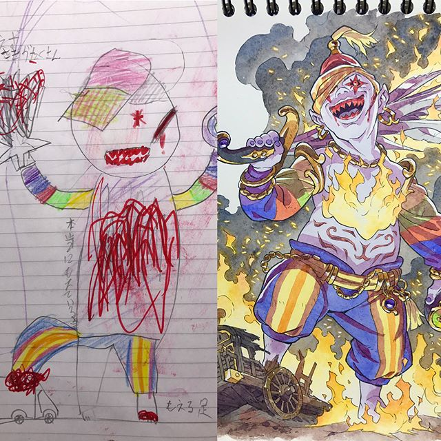 thomas romain illustrates his kids drawings 18 Animator Dad Illustrates His Kids Drawings and Everything is Awesome