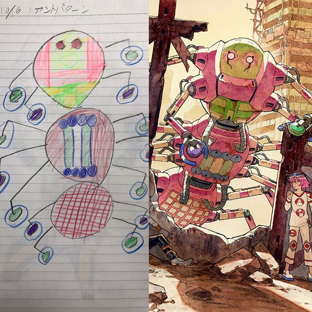 thomas romain illustrates his kids drawings 19 Animator Dad Illustrates His Kids Drawings and Everything is Awesome