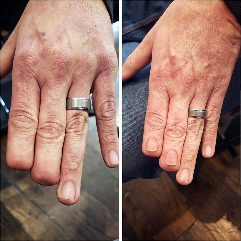 fingernail tatoo by eric catalano 1 A Tattoo So Good You Dont Even Notice It