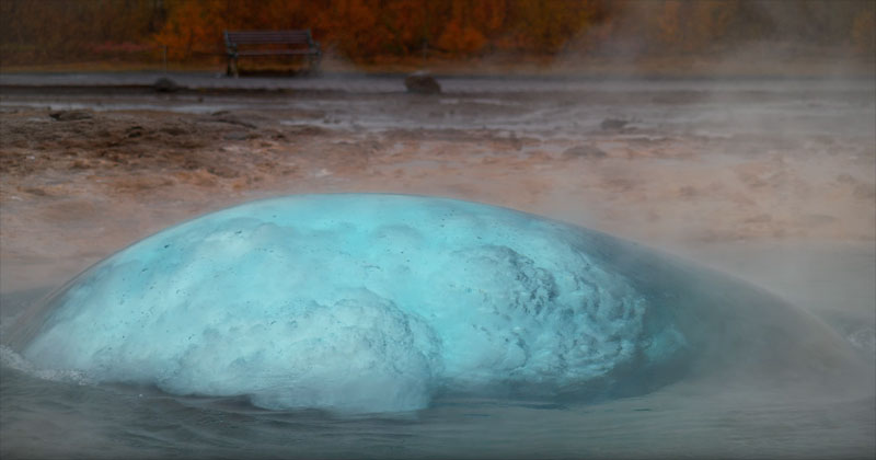 Iceland's Geysers and Waterfalls in 4K Slow Motion from Above