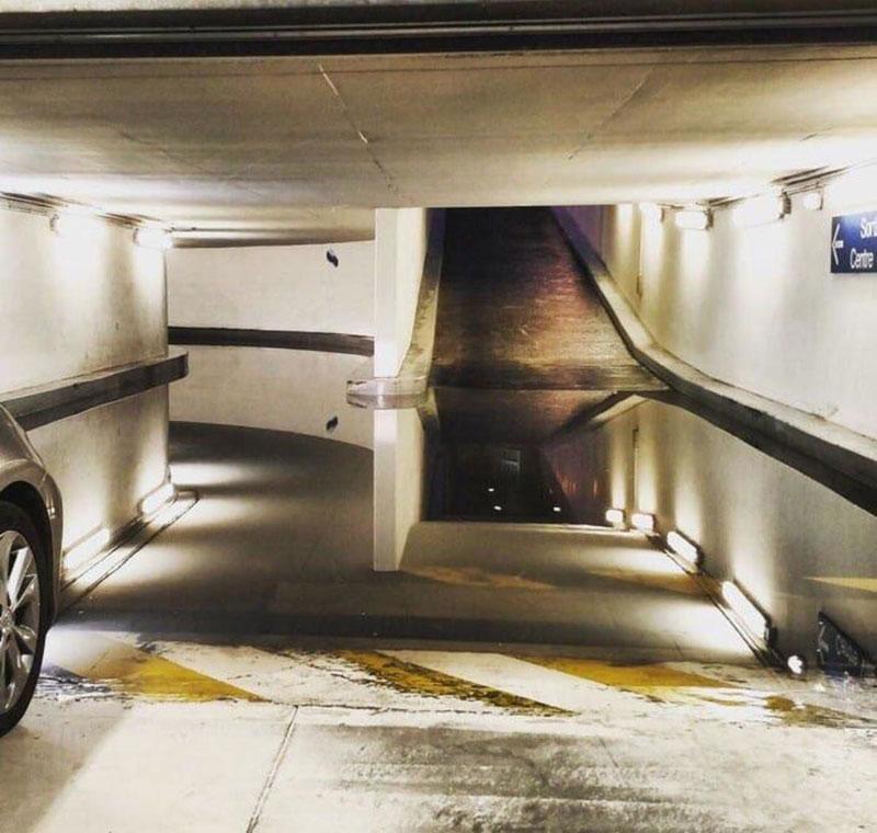surreal parking garage puddle 1 I Can Admit I Needed Some Help With This Surreal Parking Garage Puddle