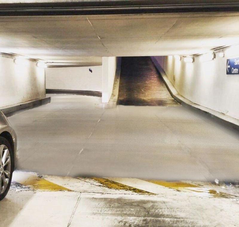 surreal parking garage puddle 2 I Can Admit I Needed Some Help With This Surreal Parking Garage Puddle