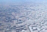 Windblown Snow Makes Flat Farmland Look 3D From Above