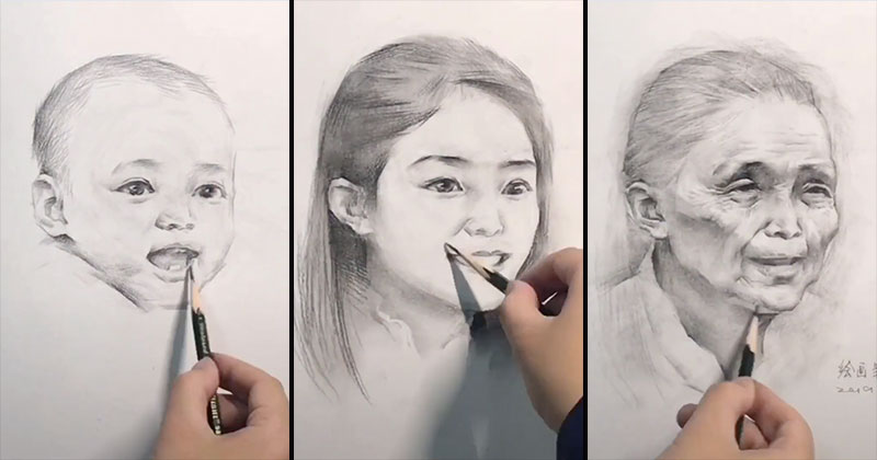 aging timelapse drawings from birth to death See People Age Before Your Eyes in These Incredible Timelapse Drawings