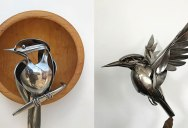 Matt Wilson Upcycles Old Utensils Into Beautiful Birds (23 Photos)