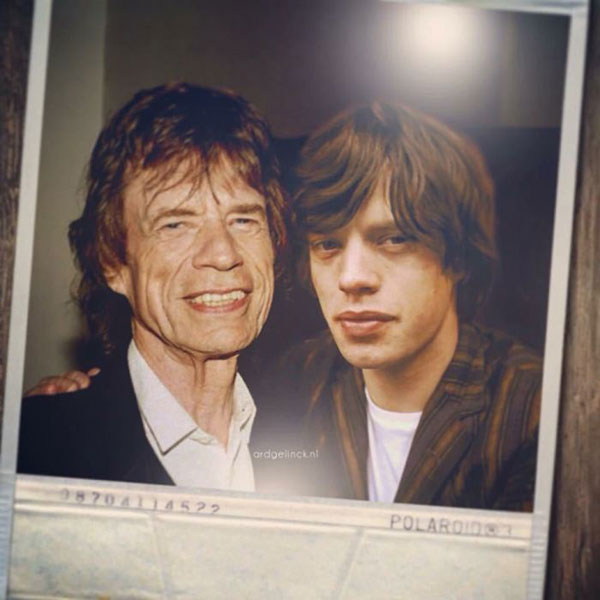 celebs with their younger self28 55 Photos of Celebs Hanging With Their Younger Selves