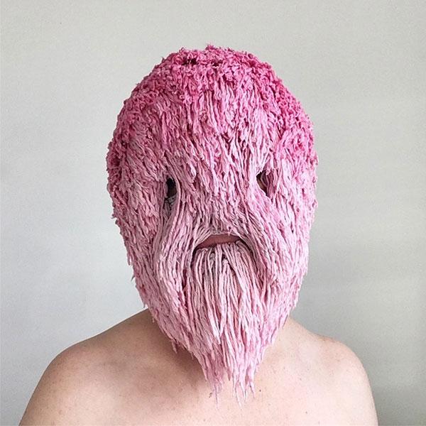 crochet masks by threadstories 10 Artist Crochets Balaclavas, Then Turns Them Into Wild Masks With Yarn