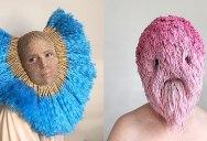 Artist Crochets Balaclavas, Then Turns Them Into Wild Masks With Yarn