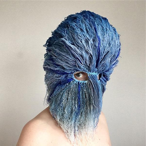 crochet masks by threadstories 3 Artist Crochets Balaclavas, Then Turns Them Into Wild Masks With Yarn