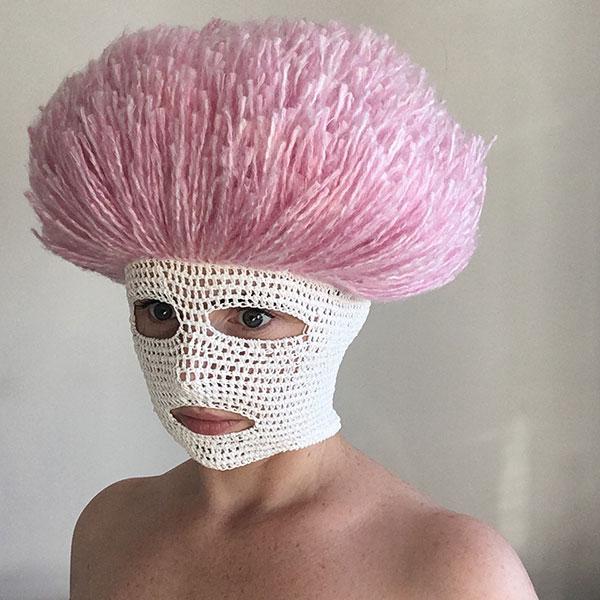 crochet masks by threadstories 5 Artist Crochets Balaclavas, Then Turns Them Into Wild Masks With Yarn